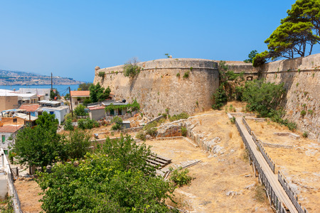 fortezza: The Venetian Fortress (Fortezza) in Rethymno. Crete, Greece Stock Photo