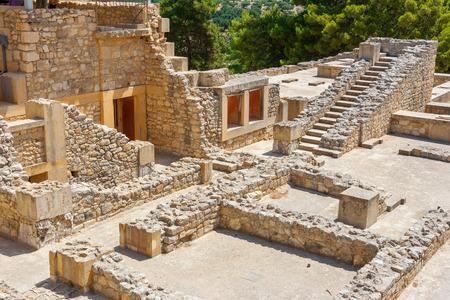 Ruines du palais minoen de Knossos. Heraklion, Crète, Grèce, Europe Banque d'images - 28551553