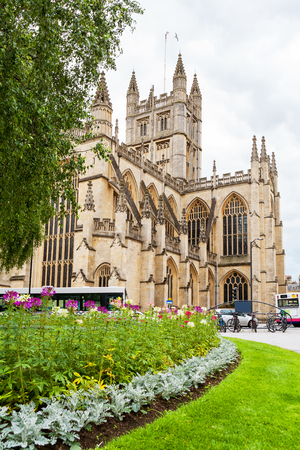 founded: Bath Abbey in the centre of the City of Bath. Somerset, England. Was founded in 1499