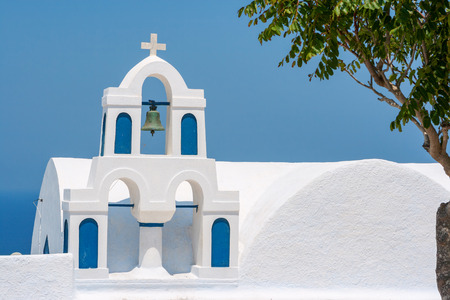 bell tower: Church bell tower. Santorini island, Greece, Europe