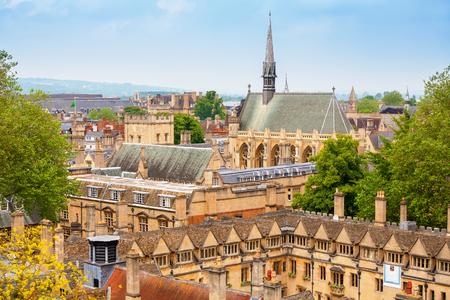 オックスフォードの街並み。オックスフォード、イギリス 写真素材