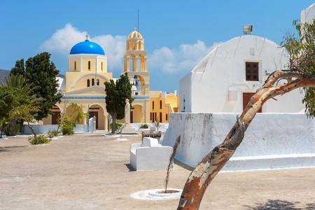 Agios Georgios church in Oia. Santorini island, Cyclades, Greece photo