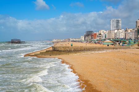 brighton beach: Brighton beach on summers day. Brighton, Sussex, England, UK