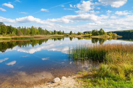 waterscape: Shore of the Lake Paunkula. Estonia; Europe
