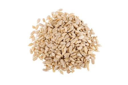semillas de girasol: Semillas de girasol - aislados en fondo blanco