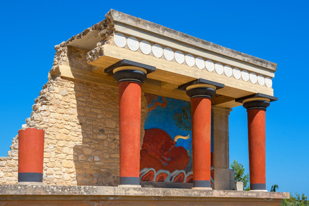 Knossos Palace ruins. Heraklion, Kreta, Griechenland Standard-Bild - 33414415