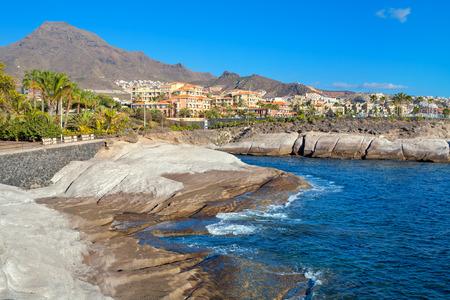 adeje: Rocky coastline of Costa Adeje. Tenerife. Canary Islands. Spain