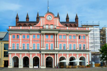 mecklenburg western pomerania: View of Town Hall (Rathaus) at Neuer Markt in Rostock. Mecklenburg Western Pomerania, Germany
