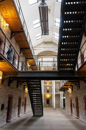 gaol: Cork City Gaol. Now historical jail museum. Cork, Republic of Ireland