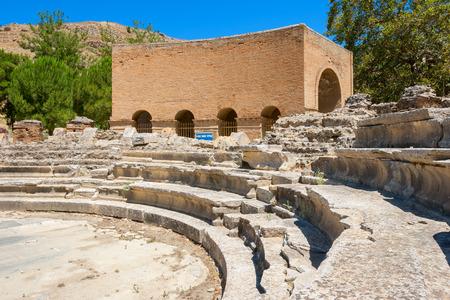 derecho romano: Ode�n Romano en el antiguo sitio de Gortina. Mesar�, Creta, Grecia