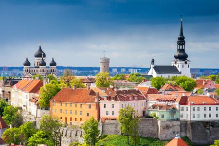 View of the old town. Tallinn, Estonia, Europe