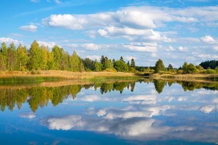 waterscape: View of the Lake Paunkula. Estonia, Europe