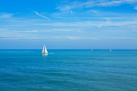 water sport: Yachts sailing on the sea. England, UK
