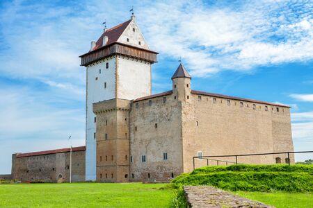 herman: Hermann castle of the Order of Teutonic Knights. Narva, Estonia, Baltic States, Europe