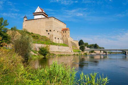 herman: Fortress over the river. Narva. Estonia, Europe