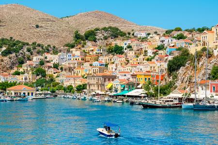 dodecanese: Gialos Harbour. Symi, Dodecanese Islands. Greece, Europe Editorial
