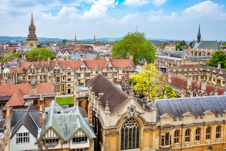 オックスフォード市の街並み。オックスフォード、イギリス 写真素材