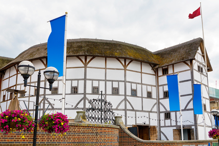 globe theatre: The Shakespeare Globe Theatre in London. England, UK