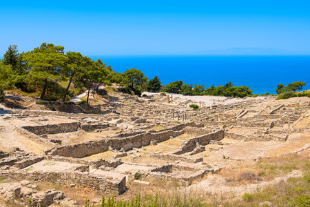 archeological: Archeological site of ancient Kamiros. Rhodes, Greece Stock Photo