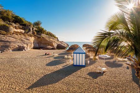 adeje: Playa del Duque beach. Costa Adeje, Tenerife, Canary Islands, Spain