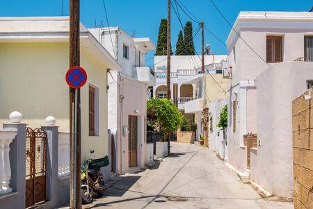 dodecanese: Street in village of Lardos. Rhodes, Dodecanese Islands, Greece