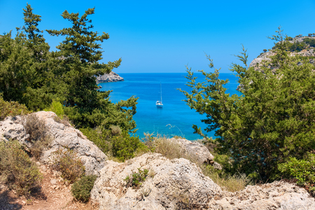 dodecanese: View of the sea. Rhodes, Dodecanese islands, Greece, Europe