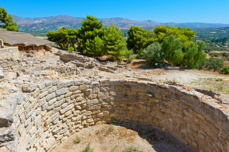 archaeological site: Archaeological site of Phaistos. Crete, Greece Stock Photo