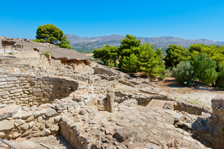 past civilizations: Archaeological site of Phaistos. Crete, Greece Stock Photo