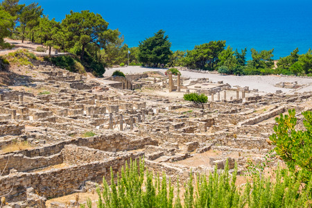 archeological site: Archeological site of ancient Kamiros. Rhodes, Greece Stock Photo