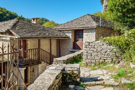 Abandoned Monastery of Agia Paraskevi situated on the edge of Vikos Gorge. Monodendri, Zagoria, Greece