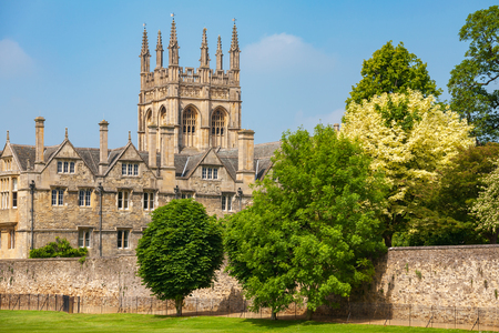 マートン カレッジの様子オックスフォード大学、オックスフォード、オックスフォード、イングランド、英国