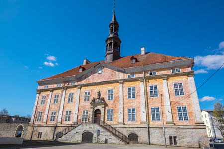 View of old Town Hall building in Narva. Ida-Viru County, eastern Estonia, Europe