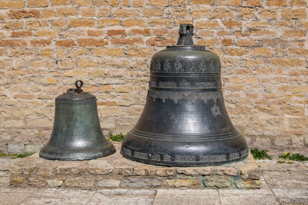 Two old bells in Narva fortress. Ida-Viru County, eastern Estonia, Europe