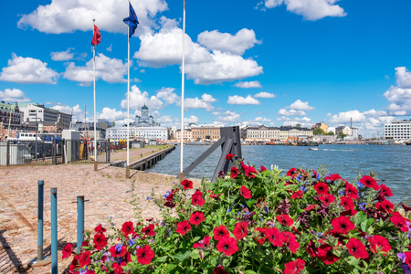 View of Northern Harbour and Port in Helsinki. Finland, Scandinavia Stock Photo