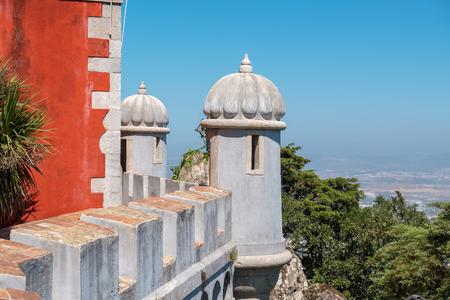 The Wall Walk (Caminho de Ronda) of the Pena National Palace. Sintra. Portugal