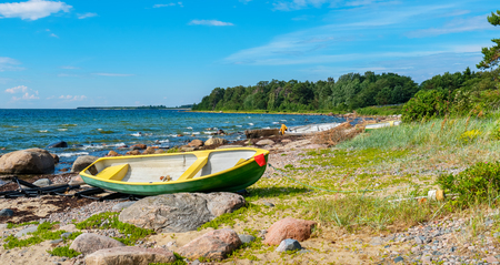 Panoramic view of Baltic Sea coast at Kaberneeme. Estonia, Europe Stock Photo