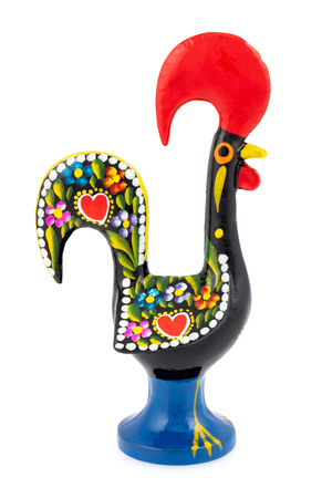 Rooster of Barcelos (Galo de Barcelos) on a white background