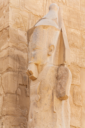 View of Pharaoh statue in Karnak Temple. Luxor, Egypt, Africa