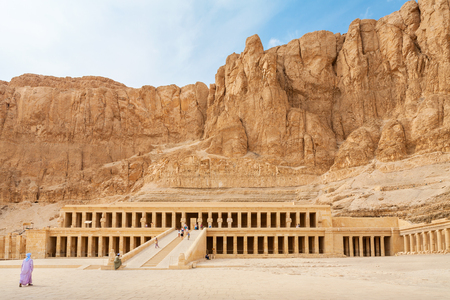 Mortuary Temple of Queen Hatshepsut. West Bank, Luxor, Nile Valley, Egypt