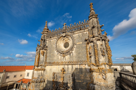 Chapter house and main Church in the Convent of Christ (Convento de Cristo). Tomar, Ribatejo, Portugal Stock Photo
