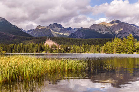 Slovakia - Strbske lake. Lakes in the Slovak Tatra Mountains. Landscape with mountains and water.