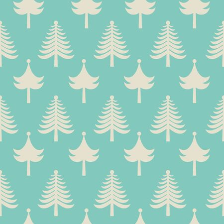 christmas tree illustration: Simple seamless pattern with Christmas trees. Illustration