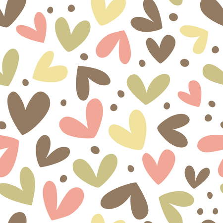 Seamless heart background in pastel colors. Great for Baby, Valentines Day, Mothers Day, wedding, scrapbook, surface textures.