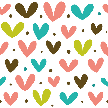 Seamless heart pattern for template Illustration