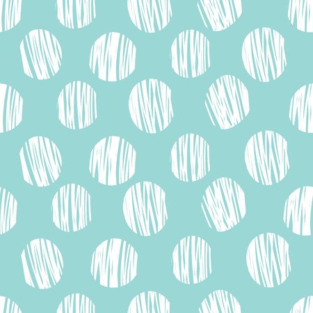 Simple seamless pattern with polka dots on a blue background. Print card, cloth, clothing, tie, shirt, summer sundress, dress, wrap, wrapper, web, cover, label, banner, emblem.