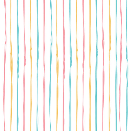 Simple seamless pattern with a vertical strip. Vector background in pastel colors. Ilustração