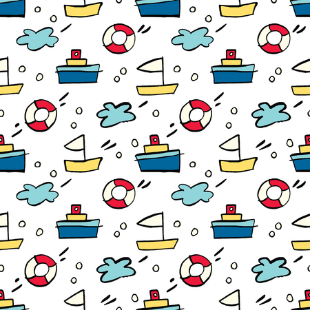 Seamless pattern with cartoon.