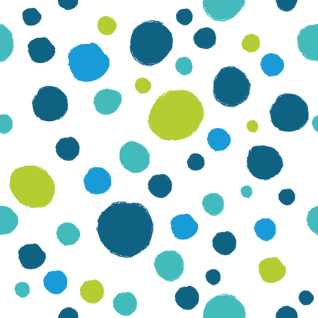 A simple pattern of polka dots. Vector background in blue colors.