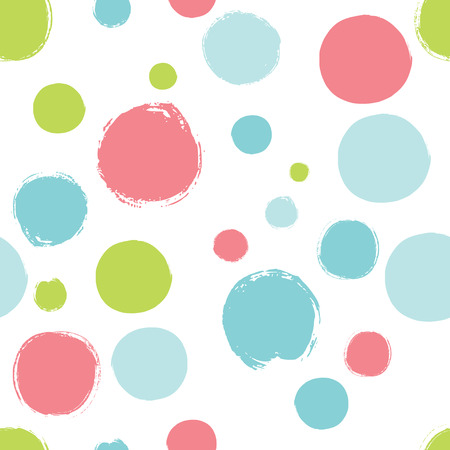 Simple pattern with bright polka dots. Seamless background for your design.