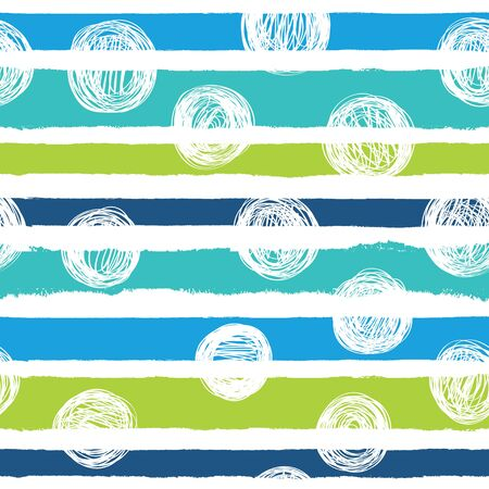 Seamless background with horizontal stripes in blue colors.